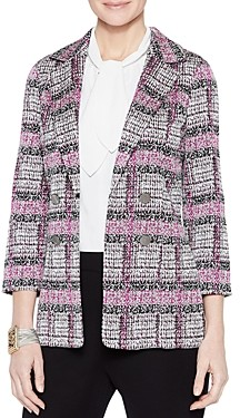 Misook Melange Plaid Knit Blazer