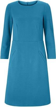 Boden Agnes Jacquard Dress, Baltic Teal