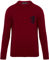 Pringle Deep Claret Intarsia Lambswool Sweater