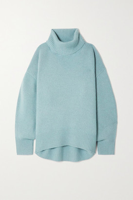 Arch4 World's End Ribbed Cashmere Turtleneck Sweater - Blue