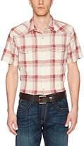 Lucky Brand Men's Casual Short Sleeve Western Button Down Shirt