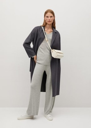 MANGO Ribbed knit trousers