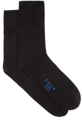 Falke Run Cotton-blend Running Socks - Black