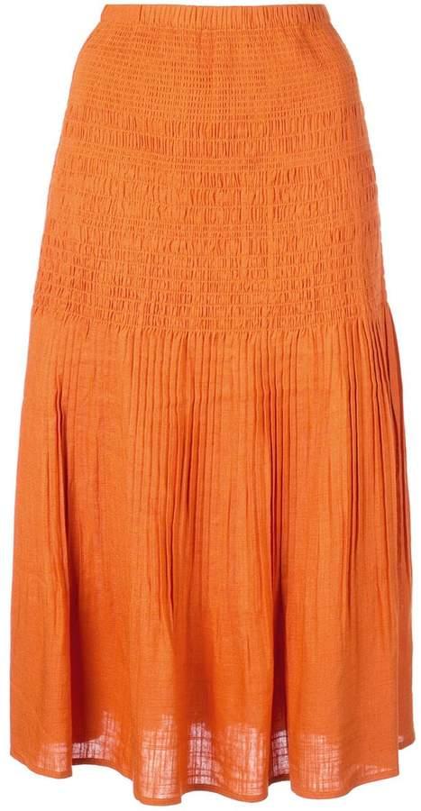 Nicholas textured a-line skirt