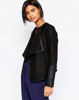 Vero Moda Tailored Jacket With PU Sleeves