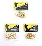 Magic Dread Lock Dreadlocks Braiding Beads GOLD Metal Cuffs Hair Accessories Decoration Filigree Tube (8 mm, Gold) 36 pieces