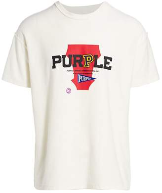 Purple Brand Logo Cotton T-Shirt