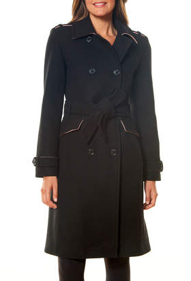 Kate Spade Double-Breasted Wool-Blend Trench Coat