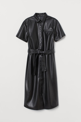 H&M Faux Leather Dress - Black