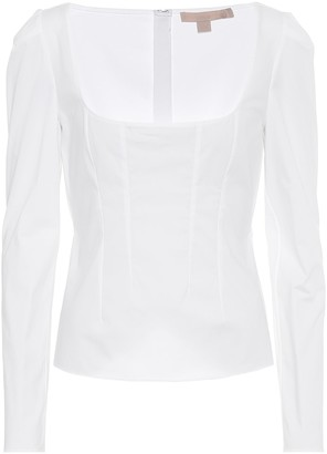 Brock Collection Quaderno stretch-cotton top