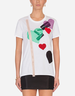 Dolce & Gabbana T-Shirt With Cotton Patch Embellishment