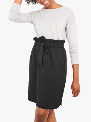 White Stuff Neptune Paperbag Skirt, Pure Black