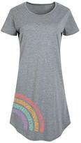 Instant Message Women's Women's Tee Shirt Dresses HEATHER - Heather Gray Rainbow Mandala Short-Sleeve Dress - Women & Plus