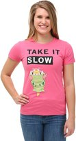 Mighty Fine womens Womens Pokemon SlowBro Long Walks T-Shirt