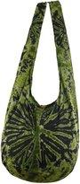 NaLuck Tie Dye Hippie Hobo Boho Sling Crossbody Shoulder Messenger Bag Bohemian-Firework HT55
