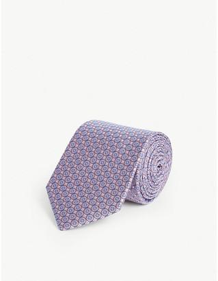 Eton Medallion-print silk tie