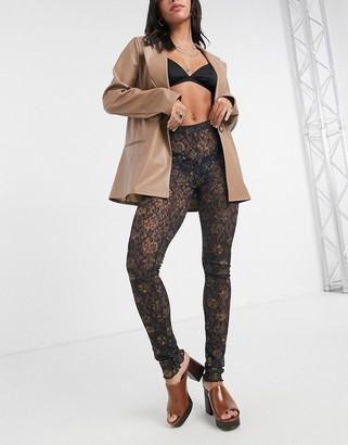 Free People Layered in lace legging in black