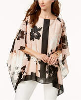 JM Collection Printed Poncho, Created for Macy's