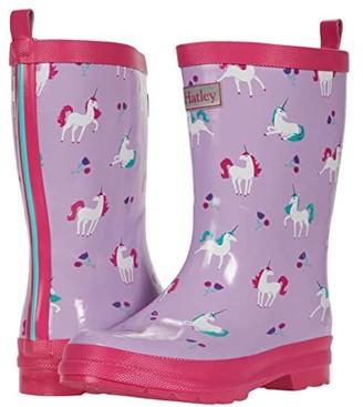 Hatley Playful Unicorns Shiny Rain Boots (Toddler/Little Kid) (Purple) Girl's Shoes