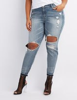 Charlotte Russe Plus Size Refuge Destroyed Skinny Jeans