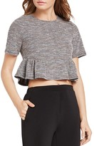 BCBGeneration Shirred Jacquard Knit Top