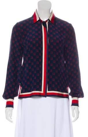 a4d5137c3 Gucci Silk Shirt - ShopStyle