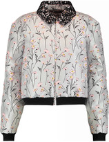 Giambattista Valli Macramé lace-trimmed embroidered twill jacket
