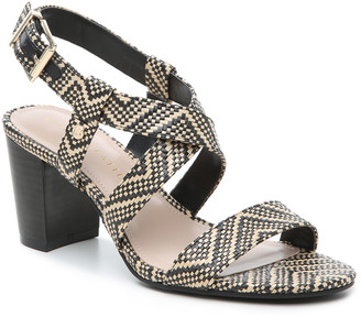 Kelly & Katie Women's Frannie Sandals Black/white Size 5 Woven fabric or faux leather upper From Sole Society