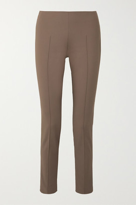 Akris Melissa Cotton-blend Slim-leg Pants - Brown