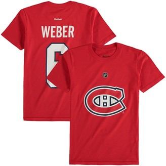 Reebok Youth Shea Weber Red Montreal Canadiens Name & Number T-Shirt