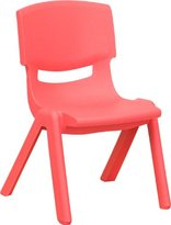 Flash Furniture YU-YCX-003-RED-GG Red Plastic Stackable School Chair with 10-1/2-Inch Seat Height