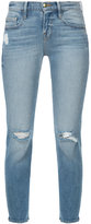 Frame cropped distressed skinny jeans