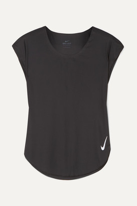 Nike City Sleek Dri-fit Stretch-jersey Top - Black