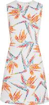 Fendi Bird of Paradise printed matelassé satin mini dress