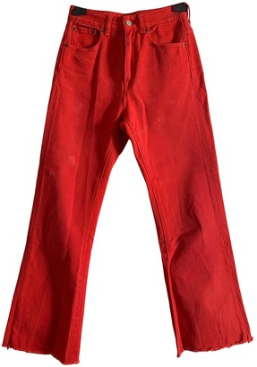 Maison Margiela Red Cotton - elasthane Jeans for Women