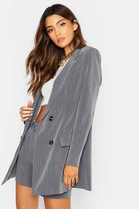 boohoo Tailored Pinstripe Blazer