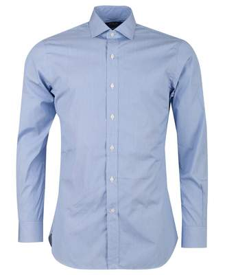 Polo Ralph Lauren Custom Fine Stripe Spread Collar Shirt Colour: BLUE