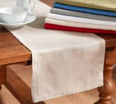 Pottery Barn PB Classic Belgian Flax Linen Hemstitch Table Runner
