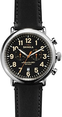 Shinola The Runwell Chronograph Black Watch, 47mm
