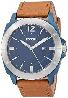 Fossil Men's Privateer Sport Quartz Stainless Steel and Leather Multifunction Watch