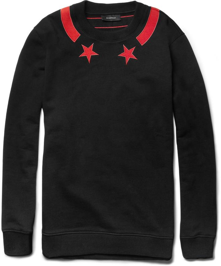 Givenchy Star-Detail Cotton-Jersey Sweatshirt