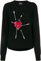 Markus Lupfer Sequin Heart and Arrow sweater