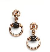 Gucci Horsebit Black Diamond & 18K Rose Gold Drop Earrings
