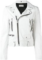 Saint Laurent classic biker jacket - women - Lamb Skin - 38
