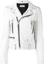 Saint Laurent zip biker jacket - women - Lamb Skin - 36