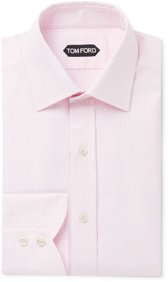 Tom Ford Slim-Fit Checked Cotton Shirt - Men - Pink