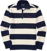 Ralph Lauren Bold Striped Half-Zip Sweatshirt, Big Boys (8-20)