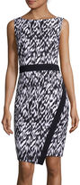 London Times London Style Collection Sleeveless Abstract-Print Sheath Dress
