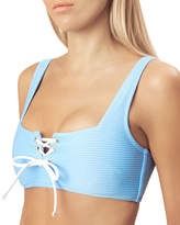 Heidi Klein Lace-Up Square-Neck Bikini Top