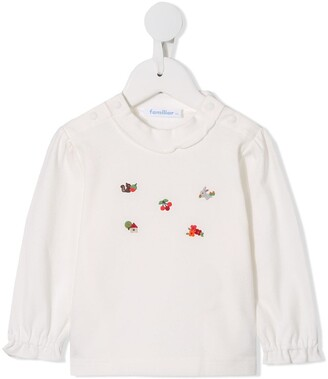 Familiar embroidered T-shirt